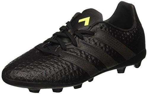 adidas Unisex-Kinder Ace 16.4 Fxg Fußballschuhe, Schwarz (Core Black/core Black/solar Yellow), 38 2/3 EU