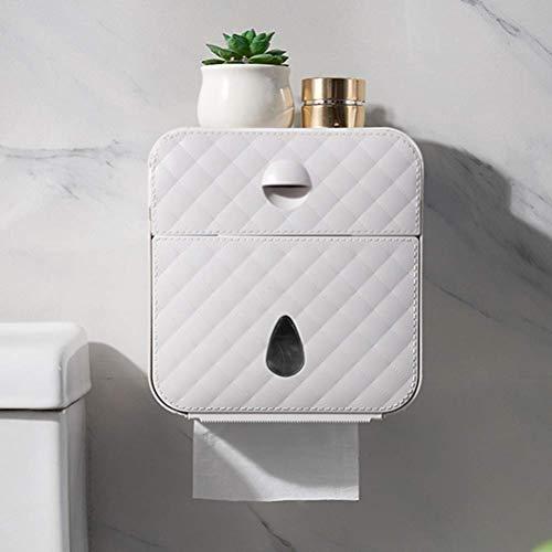 WANBAO Conciso Soporte de Rollo de Inodoro Soporte de Toalla de Papel Impermeable Montado en Pared WC Rollo de Papel Estuche de pie Caja de Almacenamiento de Tubo Accesorios de baño