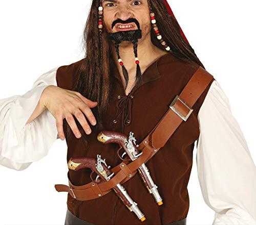 Fiestas Guirca Band Brust mit Zwei Pistolen Pirat
