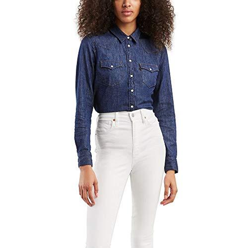 Levi's Camisa Ultimate Western para mujer (estándar y Plus) - azul - Large