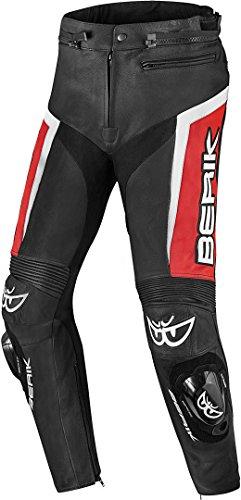Berik Misle Motorrad Lederhose 52 Schwarz/Weiß/Rot