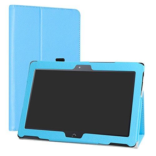 "LiuShan BQ Aquaris M10 Funda, Folio Soporte PU Cuero con Funda Caso para 10.1"" BQ Aquaris M10 Android Tablet,Azul"