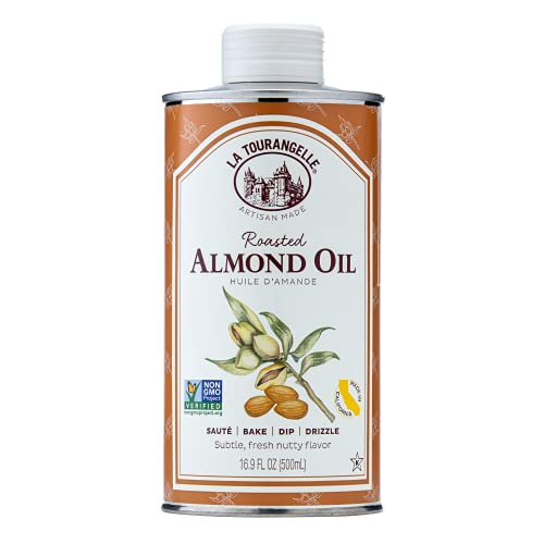 La Tourangelle, Roasted Almond Oil, Artisanal Cooking Oil Rich in Vitamins E, B, and P, Bake, Cook, and Whisk into Marinades and Vinaigrettes, 16.9 fl oz