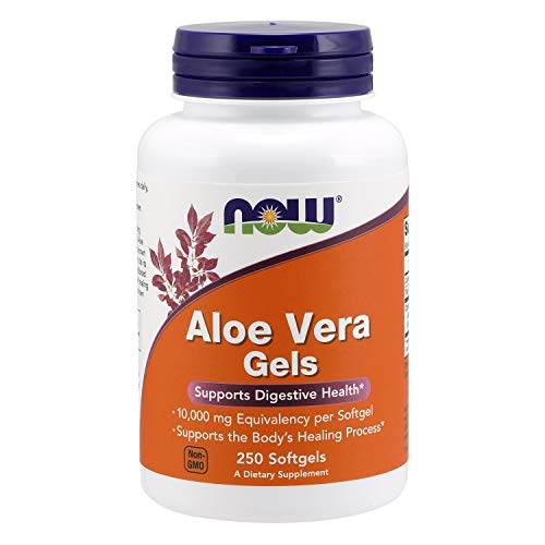 NOW Supplements, Aloe Vera (Aloe barbadensis) 10,000 mg, Supports Digestive Health*, 250 Softgels