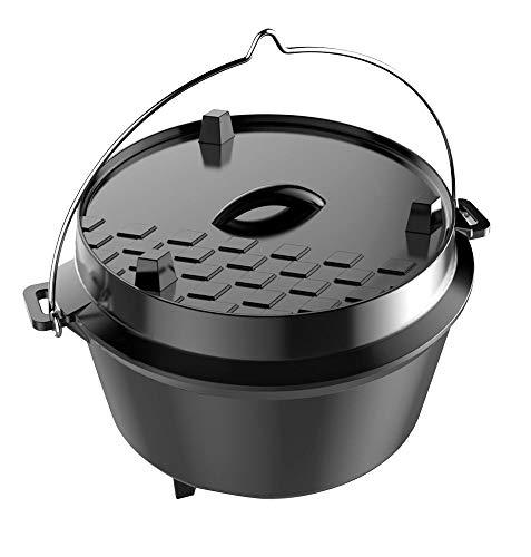 Tepro Gusseisen Dutch Oven, Füllmenge: ca. 12 Liter, Größe: large