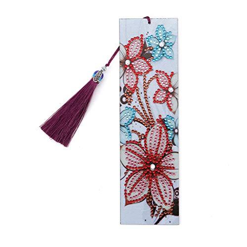 Yanhonin DIY Blumen-Lesezeichen 5D Gemälde Diamant Favoriten hinzufügen Stickerei Von Acorn Lesezeichen