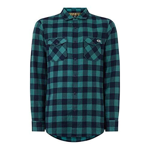 O'NEILL LM Check Flannel Shirt Camisa Hombre, Blue AOP w/Blue, L