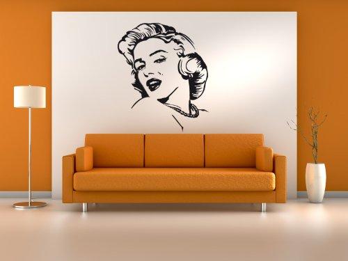 Wandtattoo Wandaufkleber Marilyn Monroe #81A 57cm x 67cm
