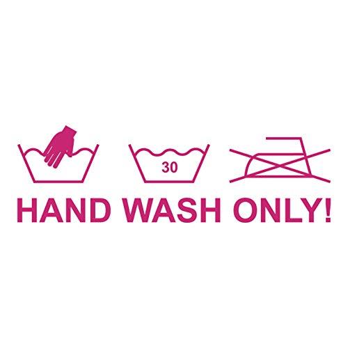 kleb-Drauf | Hand Wash Only | Pink - glänzend | Autoaufkleber Autosticker Decal Aufkleber | Auto Car Motorrad Fahrrad Roller Bike | Deko Tuning Stickerbomb Styling Wrapping