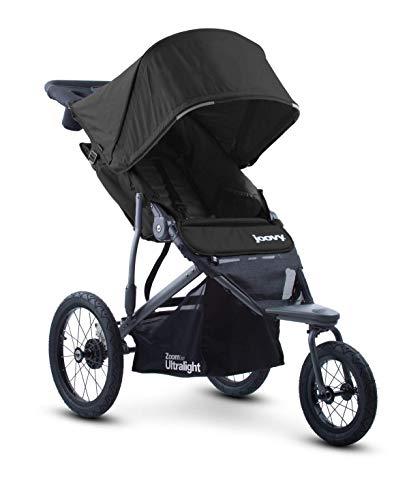 Joovy Zoom 360 Passeggino da jogging ultraleggero, capottina grande, jogger leggero, pneumatici ad aria extra large, nero