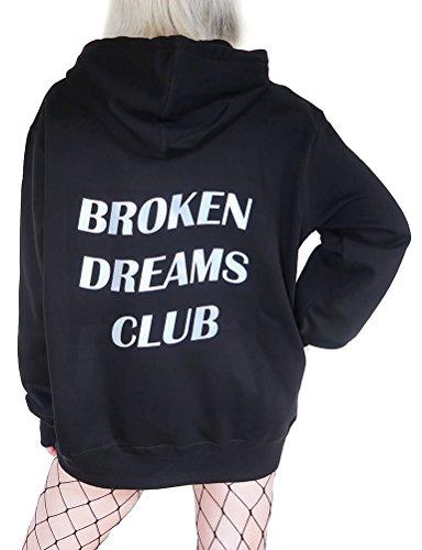 N.Life Nlife Damenmode Broken Dreams Club Print Langarm Hoodie Sweatshirt Bluse