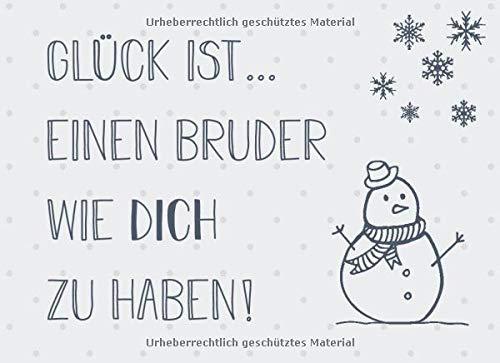 Glück ist… einen Bruder wie dich zu haben: Adventskalender – Gutscheinbuch mit 24 Gutscheinen zum selbst ausfüllen, Geschenk für den Bruder zum Advent