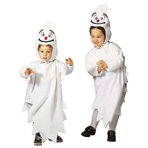 NET TOYS Niedliches Gespenst Kostüm Geist Kinderkostüm 110 cm Geisterkostüm Halloween Ghost Jumpsuit Horrorkostüm Kinder Halloweenkostüm