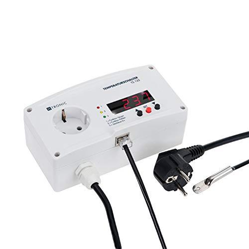H-Tronic TS 125 Plus Temperaturschalter Temperaturregler Thermostat - 55 bis +125 ° C