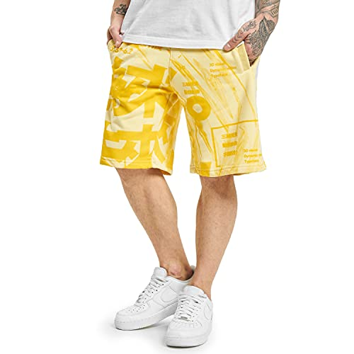 Yakuza Herren Nippon Stylez Sweat Shorts, Pale Banana, 4XL
