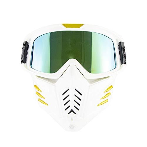Gafas Al Aire Libre, 2 En 1 Gafas De Máscara con Gafas Extraíble Y Filtro De Boca, 2020 Nuevos Hombres Y Mujeres del Estilo De Gafas De Esquí, Gafas Y Gafas De Sol De Carreras De Motocross,B