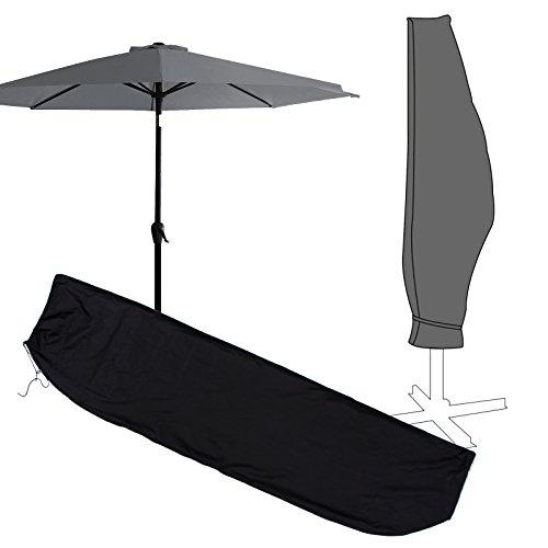 Anladia Housse de Protection Parasol Exterieur Plage Jardin a Glissiere Impermeable Noir Résistant à UV 265cm 250cm 70cm/205cm 180cm 40cm