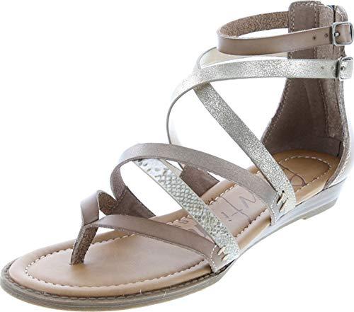 Blowfish Women's Bungalow Wedge Sandal (10, Sand/Amber/Sahara Mirage/Gold Cosmic)