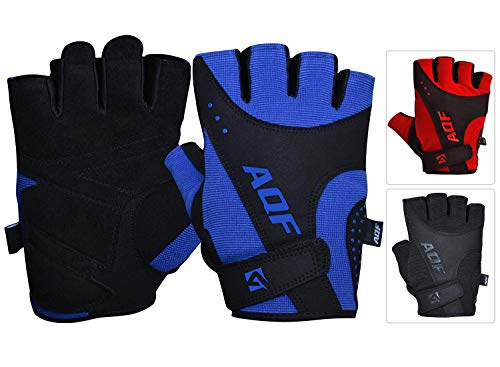 AQF Trainingshandschuhe Fitness Handschuhe Ultraleichte Fur Krafttraining Bodybuilding & Gym Workout Für Training, Fitness, Cross-Training Etc Herren & Damen (Blau, XL)