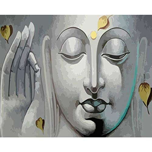 DIY Oil Painting by Numbers Buddha Home Decor Pictures by Numbers Faith Gift Wall Digital Painting 50x65cm