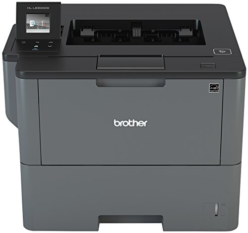 Brother Monochrome Laser Printer, HL-L6300DW, Wireless Networking, Mobile Printing, Duplex Printing, Large Paper Capacity, Cloud Printing, Amazon Dash Replenishment Enabled