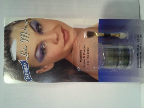 Graftobian Luster Makeup Combo Stack Creme and Powder for Eyes Emerald Eclipse by Graftobian