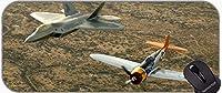 XXLゲーミングマウスパッドラージデスクパッド、F 22戦闘機軍事戦闘滑り止めゴムマウスパッド