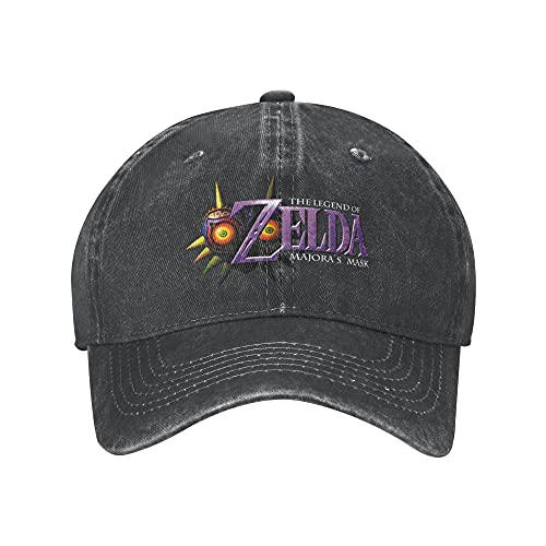 N \ A Gorra de béisbol de Majora's Mask para adultos, unisex, unisex, ajustable, sombrero de vaquero para hombre y mujer