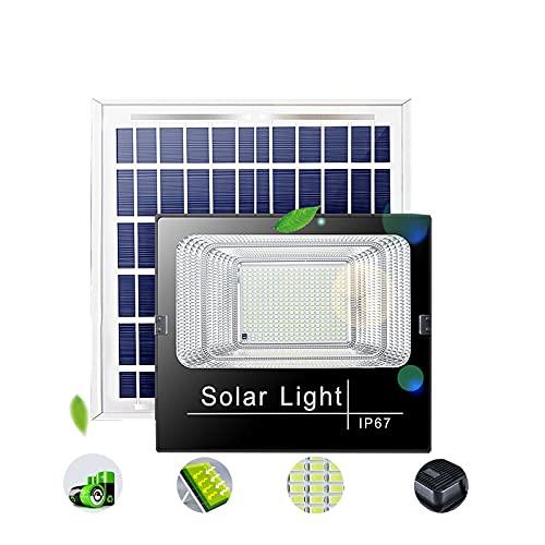 Luces Solares Led Exterior Jardin,450W 550W,IP66 A Prueba De Agua,foco Proyector Solar Exterior ,foco Solar Exterior Potente,Luz Del Sensor Solar,[Clase Energética A +++](Size:550W,Color:Destacar)