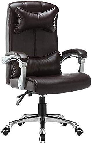 N&O Renovierungshaus Bürostühle Computerstuhl Ergonomischer Bürocomputerstuhl mit hoher Rückenlehne Höhenverstellbarer Lederschreibtisch Gaming Stuhl mit Kopfstütze und Lendenwirbelstütze für