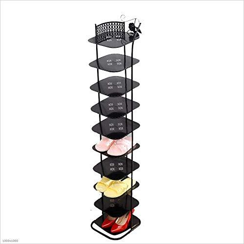 ZAIHW Zapatero, estantes de Metal para Zapatos, Organizador de Zapatos Multicapa, hogar, ensamblado, Soporte para Almacenamiento de Zapatos, 3 Colores (Color: Negro, tamaño: 10 Niveles)