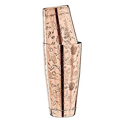 Collabo TIN o TIN - Coctelera de acero inoxidable 304, con grabado, aspecto de cobre