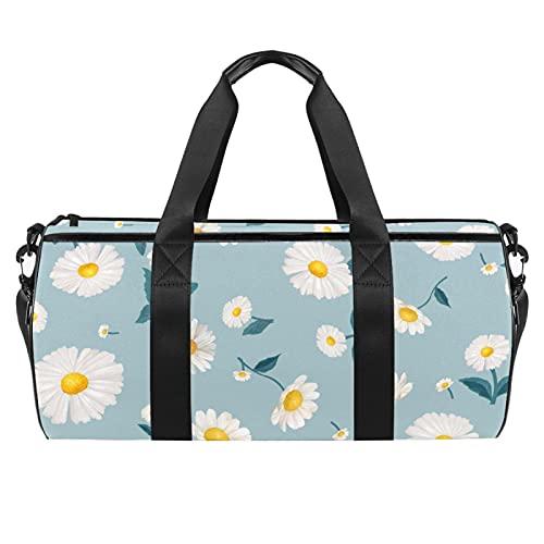 Gimnasio bolsa de deporte bolso de entrenamiento bolsa bolsa bolsa paquete para hombres mujerDaisy patrón papel pintado
