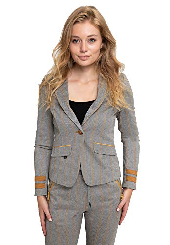 Zhrill Damen Blazer Anzugjacke Elegant Slim Fit Betsy, Größe:XL, Farbe:N510 - Yellow
