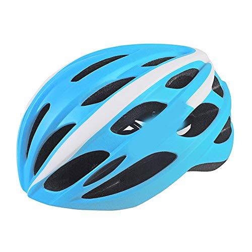 Kaper Go Fahrrad Mountainbike Reithelm Männer Und Frauen Schutzhelm Integrierte Form Wiederaufladbare 58-62 cm (Color : Blue)