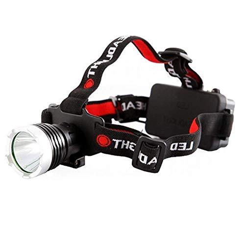 Lampe torche étanche SHRAY, lampe frontale légère pour casque T6, idéale pour la course, la marche, la pêche, le camping et la lecture pour fo