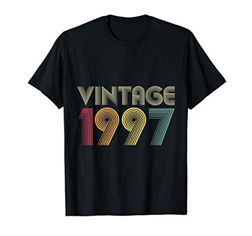 24 Cumpleaños Hombre Mujer 24 Años Vintage 1997 Camiseta