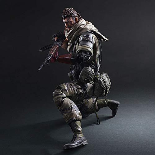 BINGFENG Metal Gear Solid 5 Play Arts Snake Figura de acción para niños Juguetes Modelo Anime Souvenirs/Coleccionables/Manualidades Juguete Decoración de la Estatua 28CM