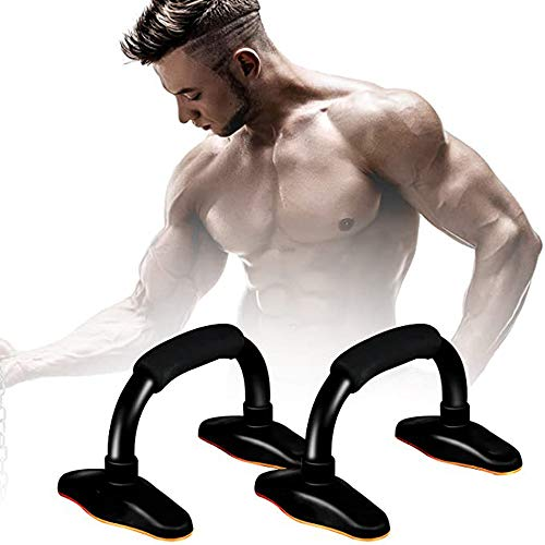 Push-up stangen - Push-up statieven Handgrepen Stalen zachte handgrepen met comfortabele schuimgreep S-vormige handgreep Push Sit Fitness Borstarmen Schouders Spieren