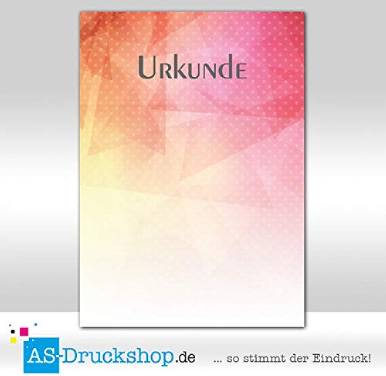 Designpapier - Urkundenpapier - bunte Urkunde   100 Blatt DIN A4   250 g-Offsetpapier B07PWX5R6J  | Hochwertige Produkte