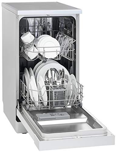 Exquisit Geschirrspüler GSP 9109.1 si | Standgerät, Unterbaugerät | 9 Maßgedecke | Silber