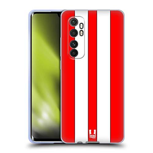 Head Case Designs Roter Rennenwagen Transportmittel Farbig Soft Gel Handyhülle/Hülle kompatibel mit Xiaomi Mi Note 10 Lite