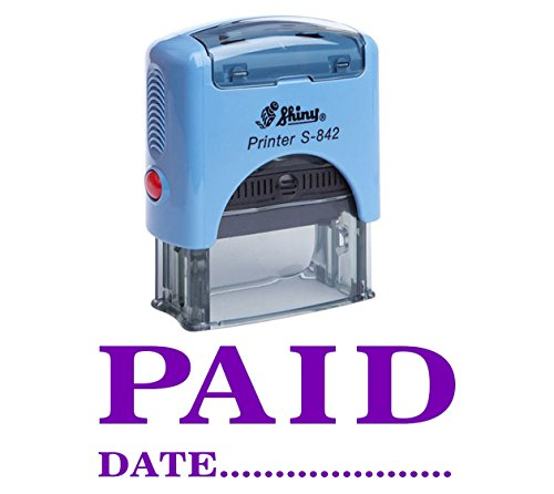 Printtoo PAID With DATE Con Auto inchiostrazione timbro di gomma Stationery Office Shiny