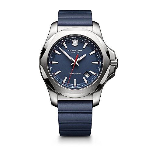 Victorinox Herren analog Swiss Quartz Uhr mit Gummi Armband 241688.1