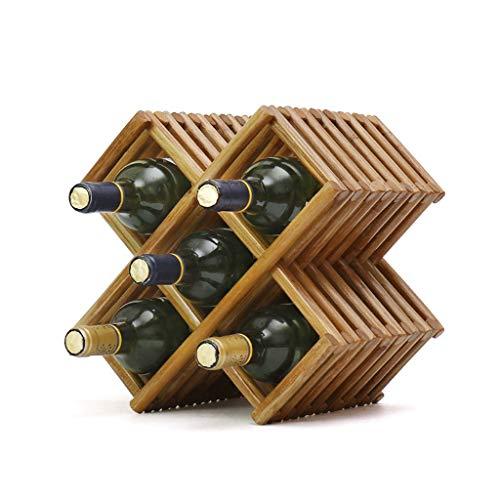 JXXDQ Estante de Vino de Madera Maciza Estante de Vino Estante de Vino Muebles for el hogar (Size : #1)