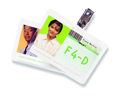 GBC Carteras plast. tarjetas 59x83mm 2x125 micras Brillo (100) - Plastificador (Transparente, Polietileno, Brillante, 0,25 mm, China, 59 mm)