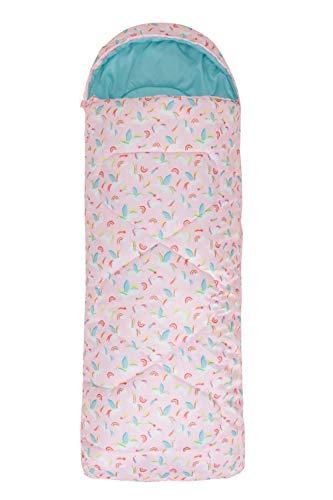 Mountain Warehouse Apex kleingemusterter Kinder-Schlafsack - Camping-Schlafsack, leicht, Hohlfaser-Isolierung, für draußen - zum Kinder-Camping Rosa Einheitsgröße