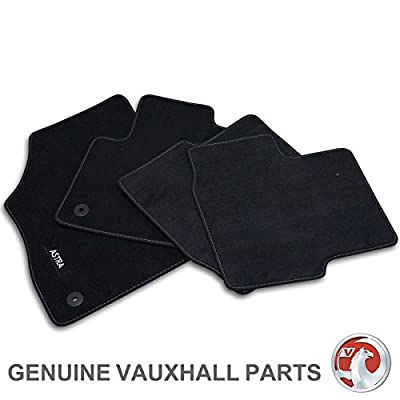 2004-2010 Black with Grey Trim MK H Connected Essentials Tailored Custom Fit Heavy Duty Automotive Carpet Boot Mat Boot Liner for Astra