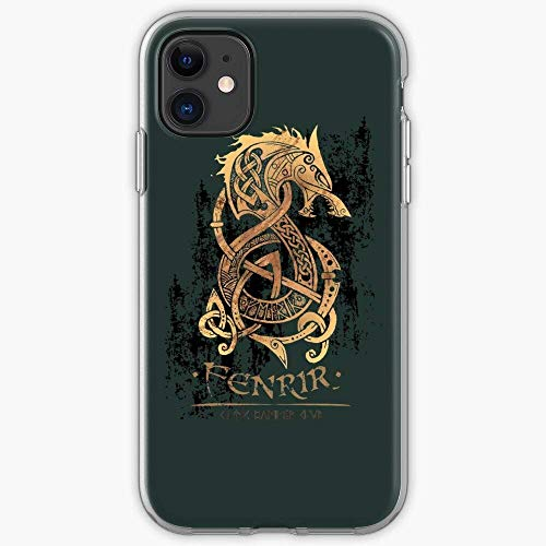TIINTEXBA Compatible with iPhone 12/12 PRO Max 12 Mini 11 PRO Max SE X XS Max XR 8 7 6 6s Plus Case Wolves Mythology Viking Wolf Celt Norse Celtic Nordic Phone Cases Cover