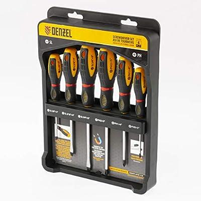 DENZEL Screwdriver Set Of 6-pcs, Tri-lobe handle, Chrome Vanadium (7713379) from DENZEL LLC